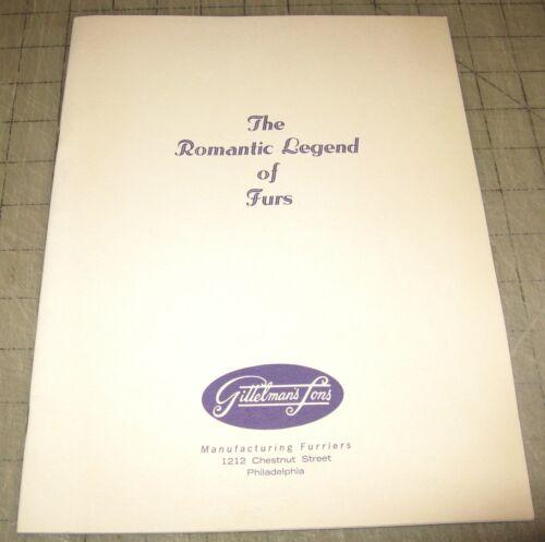 1963 The ROMANTIC LEGEND OF FURS Booklet Gittelman
