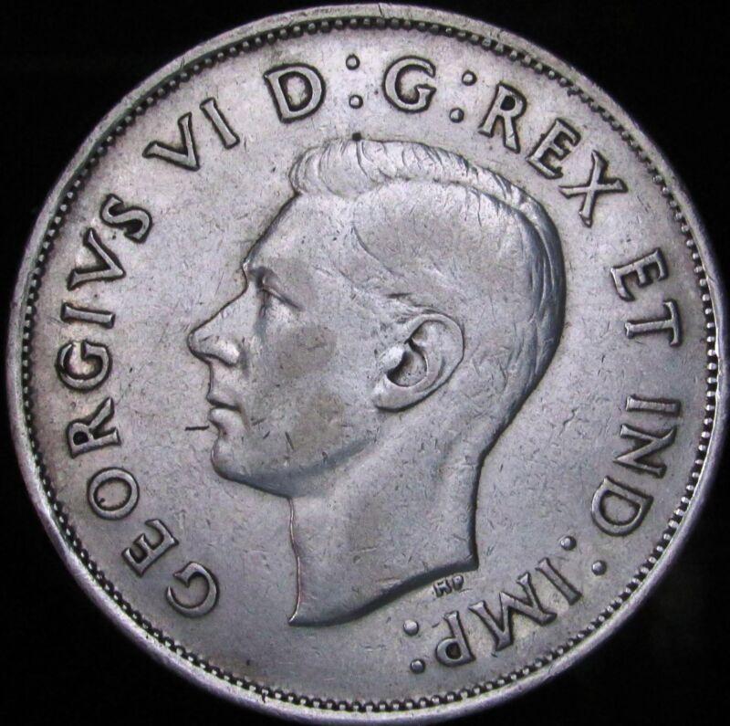 1940 Canada Silver 50 Cents (Fifty, Half) - KM# 36 - JG - VF++