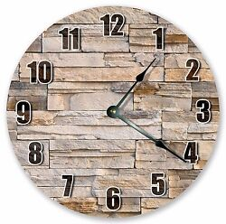 10.5 BROWN BRICKS WALL CLOCK - Large 10.5 Wall Clock - Home Décor Clock - 3212