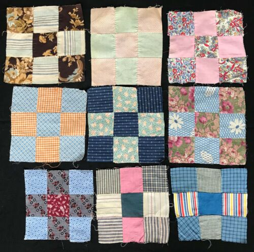Nine Patch Vintage & Antique Quilt Blocks