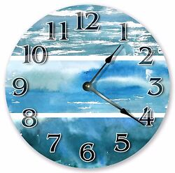 10.5 WATERCOLOR ABSTRACT CLOCK - Large 10.5 Wall Clock Home Décor Clock- 3160