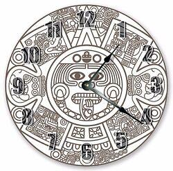 10.5 ABSTRACT MAYAN AZTEC DECORATIVE CLOCK- Large 10.5 Wall Clock - 3328