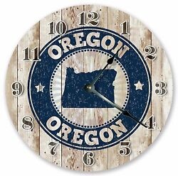 10.5 OREGON RUBBER STAMP CLOCK - Large 10.5 Wall Clock - Home Décor Cloc 3242