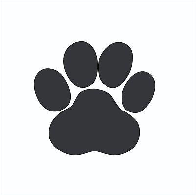 Dog Paw Print Decal - Paw Print Animal Dog Cat Vinyl Die Cut Car Decal Sticker-FREE SHIPPING