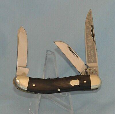 "RARE BULLDOG BUFFALO HORN SOWBELLY KNIFE ""2004 "" NEAR MINT!!"
