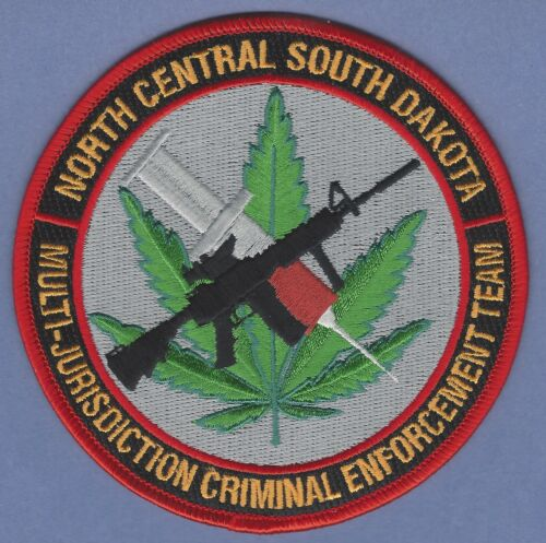 NORTH CENTRAL SOUTH DAKOTA CRIMINAL ENFORCEMENT TEAM POLICE PATCH