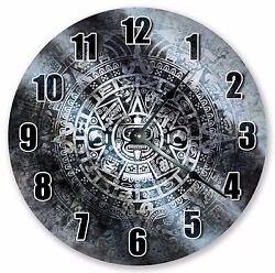 10.5 GREY TRIBAL ABSTRACT MANDALA PATTERN CLOCK - Large 10.5 Wall Clock 3354
