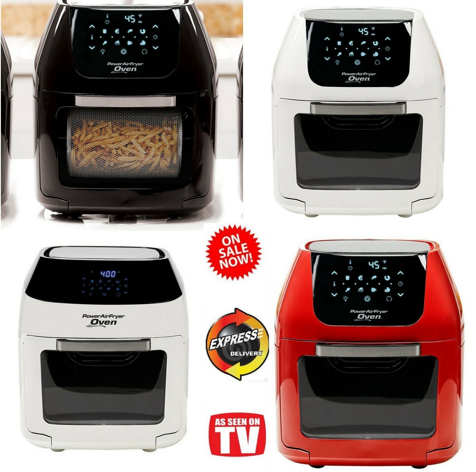 Power Air Fryer Oven Plus XL As Seen on TV 6/8 QT Family Siz