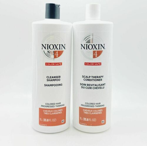 Nioxin System 4 Cleanser and Scalp Therapy Duo 33.8oz each