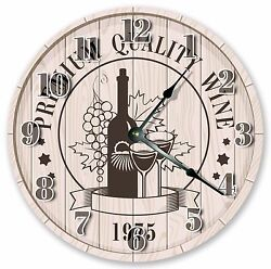 10.5 WINE FOR TWO CLOCK - Large 10.5 Wall Clock - Home Décor Clock - 3007