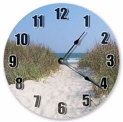 10.5 BEACH PATHWAY CLOCK - Large 10.5 Wall Clock - Home Décor Clock - 3196