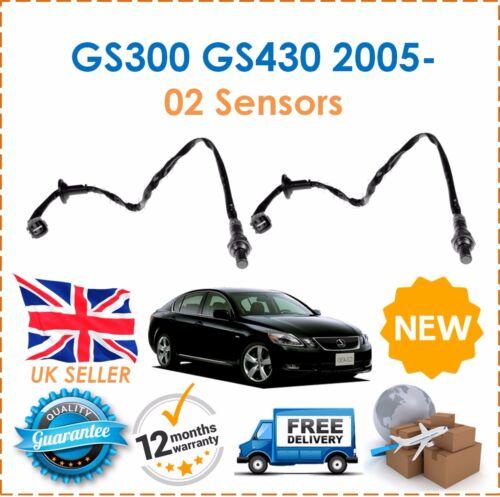 For GS300 GS430 2005- 2 Rear Exhaust Post CAT 02 Oxygen Lambda Sensors New