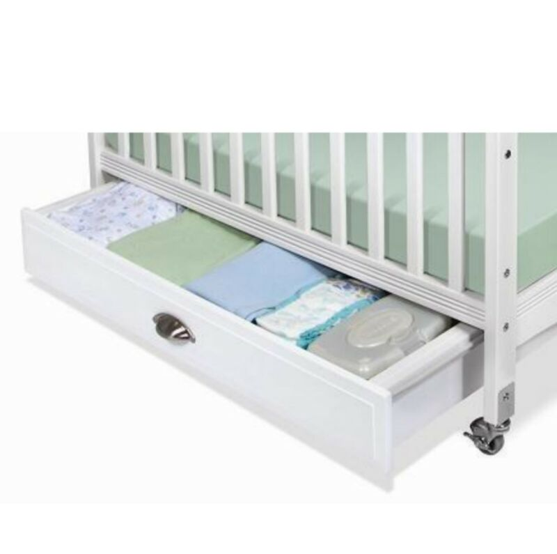 "Foundations Serenity Collection 36"" EZ Store Crib Drawer in White"