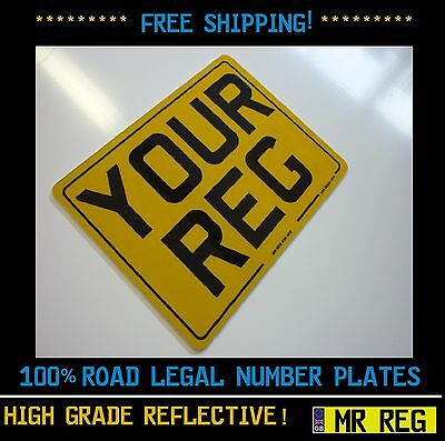 "MOTORBIKE /  MOTORCYCLE  REGISTRATION NUMBER PLATE SIZE 9"" X 7"" With Border"