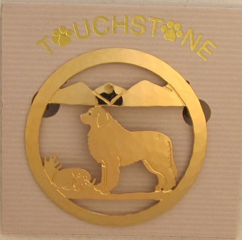 Great Pyrenees Jewelry Gold Pin by Touchstone