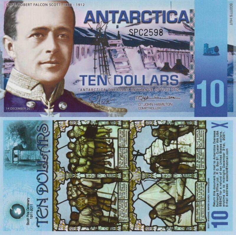 Antarctica 10 Dollars (2011) - Scott of the Antarctic