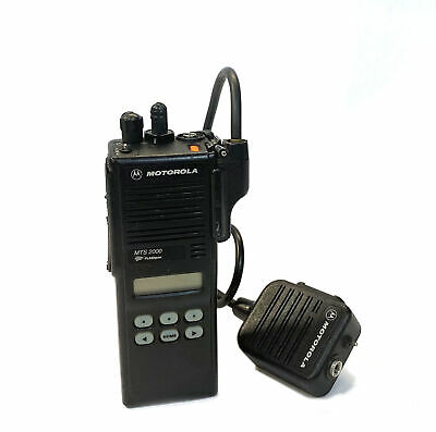 Motorola Flashport Mts2000 Model Ii Portable 2 Way Radio H01ucf6pw1bn Microphone