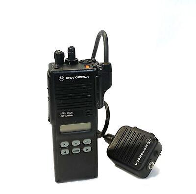 Motorola Flashport Mts2000 Model Ii Portable 2 Way Radio H01ucf6pw1bn Microphone