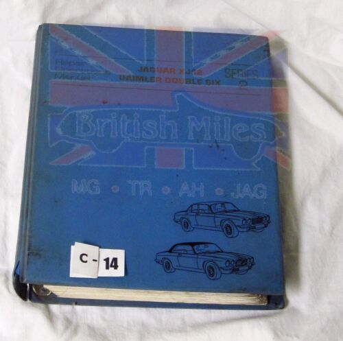 JAGUAR XJ12 DAIMLER DOUBLE SIX  SERIES II REPAIR OPERATIONS MANUAL