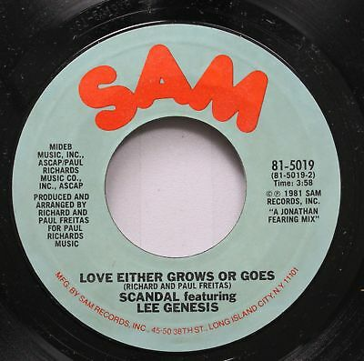 Modern Soul Disco 45 Scandal Featuring Lee Genesis   Love Either Grows Or Goes