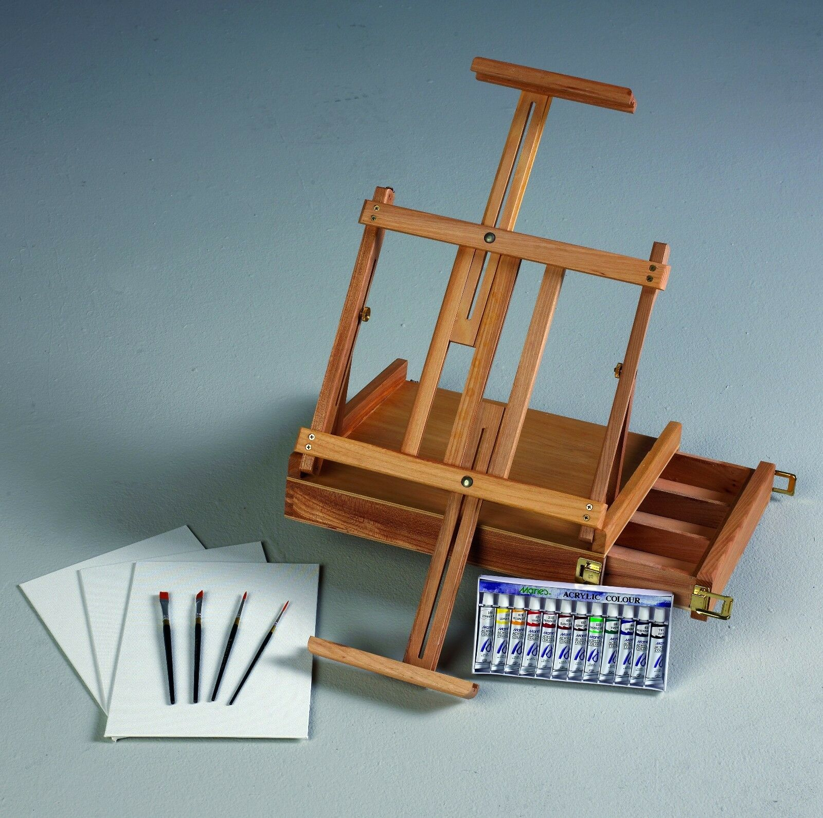 Acrylic Table Top Art Artist Easel Paint Set Kit With