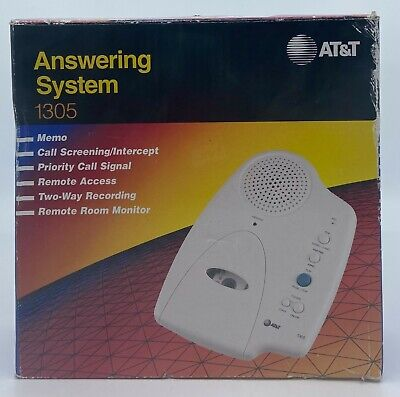 AT&T Answering Machine System Two Way Recording Remote Access 1305