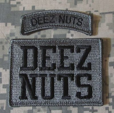 DEEZ NUTS USA ARMY BADGE MILSPEC ACU DARK 2 SET VELCRO® BRAND FASTENER PATCH