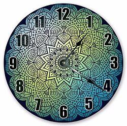 10.5 MANDALA DESIGN ABSTRACT DECORATIVE - Large 10.5 Wall Clock - 3327
