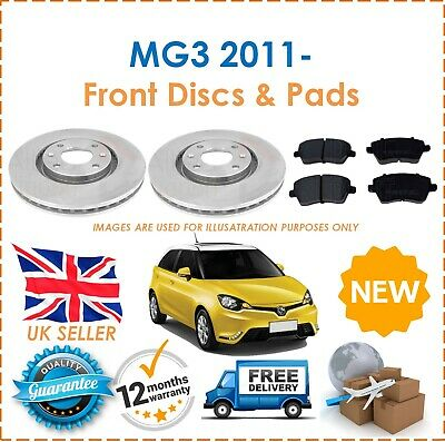 For MG MG3 1.5 1498cc 109BHP 2011- 2 Front Vented 257MM Brake Discs & Brake Pads