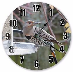 10.5 NORTHERN WESTERN FLICKER BIRD Large 10.5 Wall Clock - Home Décor - 3119