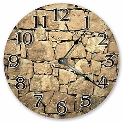10.5 CRACKED ROCKS WALL CLOCK - Large 10.5 Wall Clock - Home Décor Clock 3204