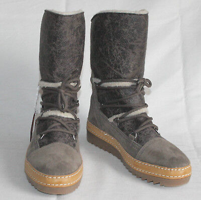Neu! Gabor Damen Stiefel UVP 157,90€ Farbe: schlamm (mix) Gr.37 ( EU 4)