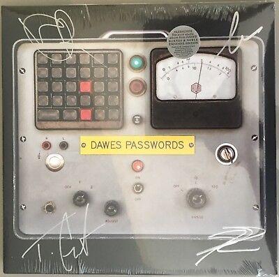 Dawes Passwords Lp Signed Autographed Exclusive Edition Transparent Pink Vinyl