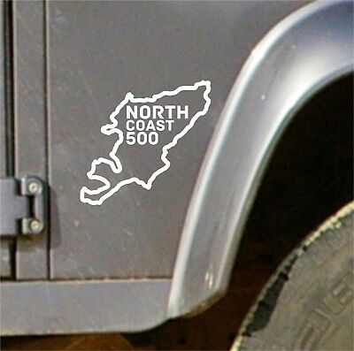 North Coast 500 NC500 Route Vinyl Sticker Decal Scotland Travel Road Trip V2