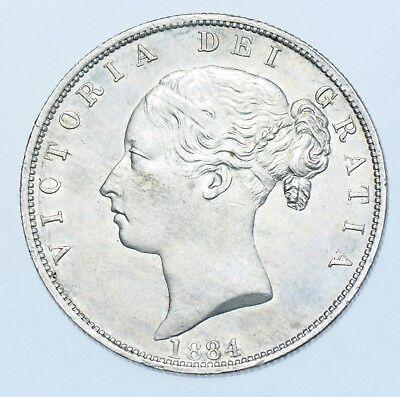 1884 HALFCROWN BRITISH SILVER COIN FROM VICTORIA UNC