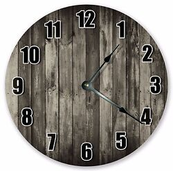 Large Wall Clocks Rustic Home Living Kitchen Décor CHARCOAL GREY CLOCK  3137