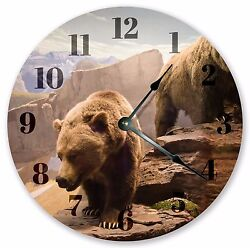 10.5 THE GRIZZLY BEAR CLOCK - Large 10.5 Wall Clock - Home Décor Clock - 3182