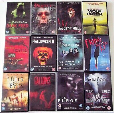 Horror dvd Bundle/Joblot/Collection. Friday 13th, Halloween ,Purge,Wolf Creek