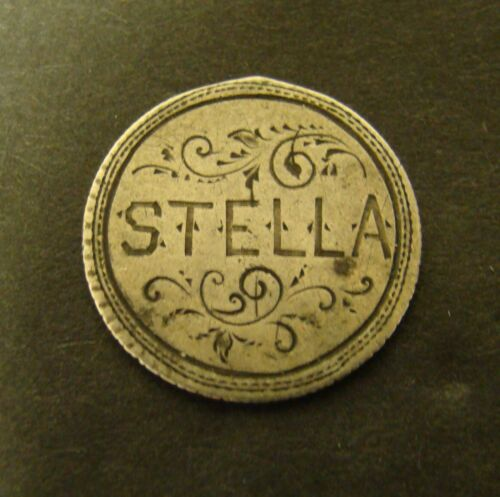 """SEATED DIME LOVE TOKEN SILVER Liberty - """"STELLA""""  10c COIN"""