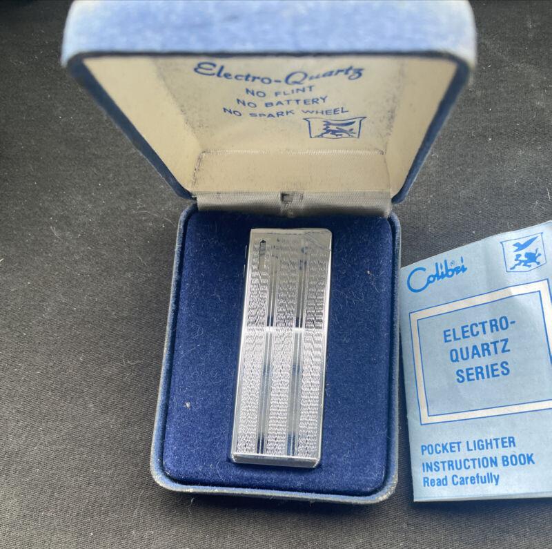 """Vintage colibri butane pocket pipe lighter + original case & booklet """"pipette"""""""