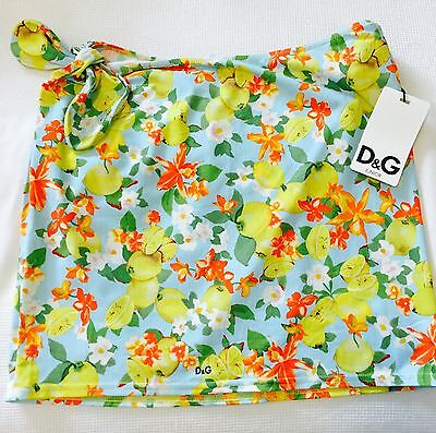 Dolce and Gabbana swim skirt cover up NWT Age 10 Fruit and Flowers design. $24