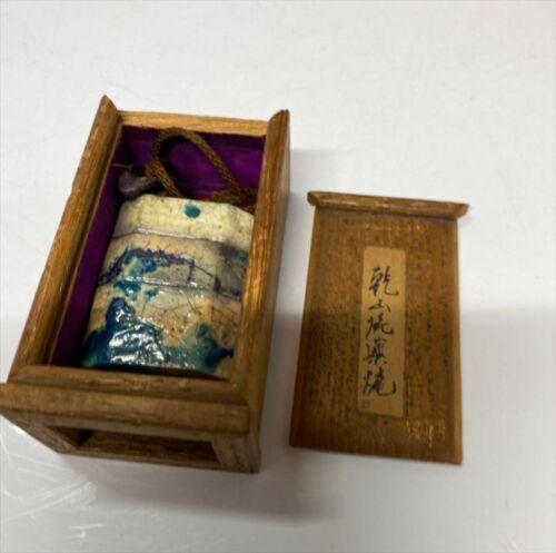 Japanese Antique Inro  Netsuke Ojime Kenzan ware Edo period w/Paulownia Box M107