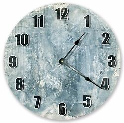10.5 BLUE WHITE TEXTURE CLOCK - Large 10.5 Wall Clock Home Décor Clock - 3149