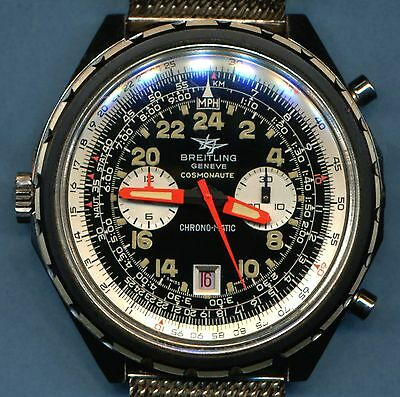 EXCEPTIONAL HUGE NEAR MINT VINTAGE 1970 BREITLING 1809 COSMOANUTE CHRONOGRAPH