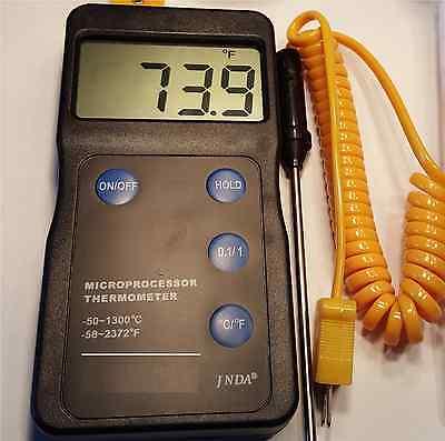 Scientific Digital Decimal Digital Thermometer K Thermocouple Celsius Fahrenheit