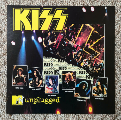 Kiss Unplugged / Reuinion promo flat 12x12 mint