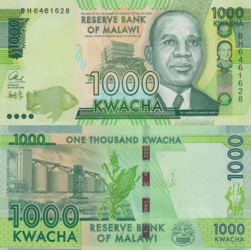 Malawi 1000 Kwacha (1.1.2016) - Chilembwe/Bank Building/p67b