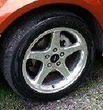 4 mags 5x114 avec pneus 225-45-17 pouces chromé