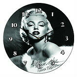 BLACK AND WHITE MARLYN CLOCK