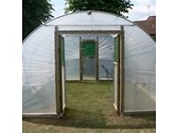 Polytunnel Frame, Staging and Doors Poly Tunnel Animal Shelter Shed